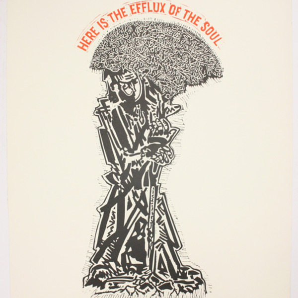 "Print, ""Song of the Open Road by Walt Whitman IV"", 1973. Joseph Prezament. Jewish Public Library Archives, 1360_00163."