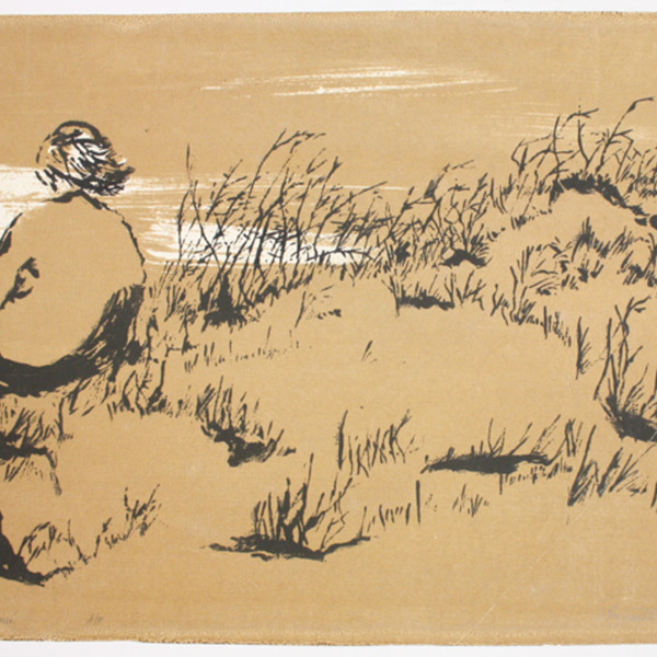 "Screen print, ""Anna"", [between 1960 and 1980]. Joseph Prezament. Jewish Public Library Archives, 1360_00138."